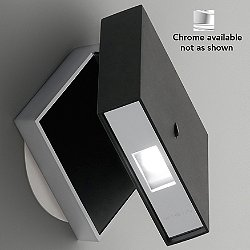 Alpha Reading Wall Lamp (Black/Chrome) - OPEN BOX RETURN