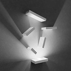 Set LED Wall Sconce Reflector Blocks