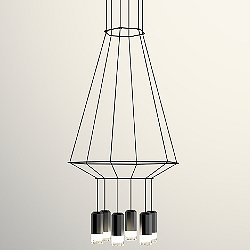 Wireflow 3D Hexagonal Pendant Light