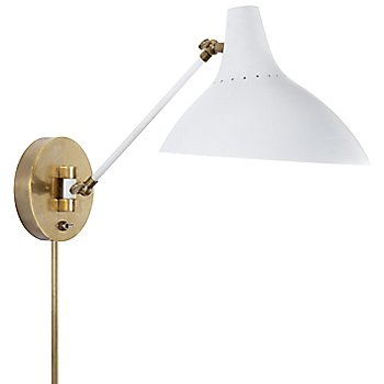 Shown in White with Hand-Rubbed Antique Brass finish