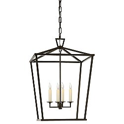 Darlana Lantern Pendant (Aged Iron/Medium) - OPEN BOX RETURN