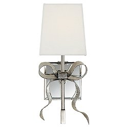 Ellery Bow Wall Sconce (Polished Nickel with Cream Shade) - OPEN BOX RETURN