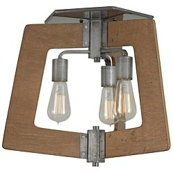 Lofty 3 Light Semi-Flush Mount Ceiling Light