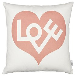 Love Graphic Print Pillow - Red