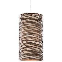 Flow 1 Light Mini Pendant Light with Silk Shade