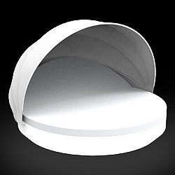 Vela Reclining Round Daybed with folding sunroof Illuminated