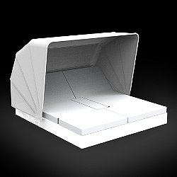 Vela 4 Reclining Square Daybed with folding sunroof Illuminated