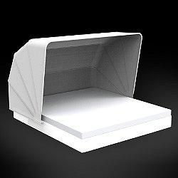 Vela Basic Square Daybed with folding sunroof Illuminated