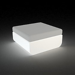 Ulm Ottoman Illuminated (White Light/Crevin White) -OPEN BOX