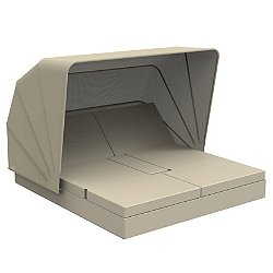 Vela 4 Reclining Square Daybed with folding sunroof