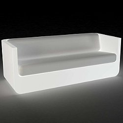 Ulm Sofa Illuminated (RGB LED BATTERY/Silvertex Fabric-WHITE - White) - OPEN BOX RETURN