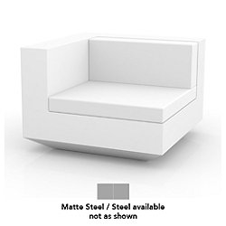 Vela Sofa Right Unit (Steel/Matte Steel) - OPEN BOX RETURN