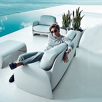 Pezzettina Lounge Chairs with Pezzettina Sofa, Blow Coffee Table and Pezzettina Planters