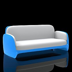 Pezzettina Sofa, Illuminated