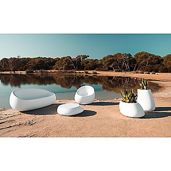 Stone Lounge Chair - By the lake