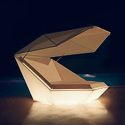 Faz Daybed with Parasol Illuminated