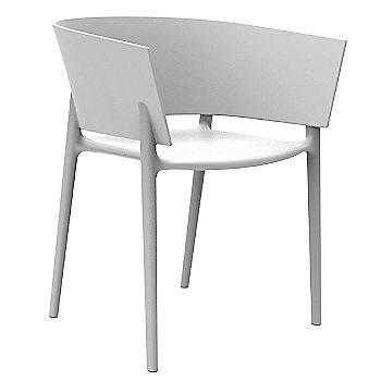 Africa Chair - White Side View