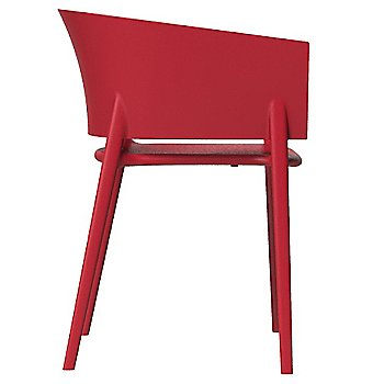 Africa Chair - Side view of the chair in Red