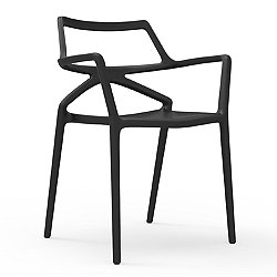 Delta Chair, Set of 4 (Black/Without Cushion) - OPEN BOX