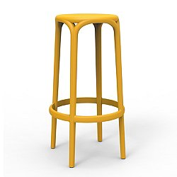Brooklyn Bar Stool, Set of 4 (Matte Mostaza) - OPEN BOX