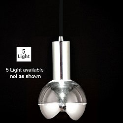 Rhea LED Multi-Light Pendant (Black/Bottom/5 Lt.) - OPEN BOX