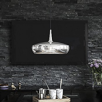 Shown in Polished Steel finish, Black