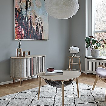 Hang Out Coffee Table / Eos X-Large Pendant Light / Audacious Cabinet / Compose Candleholder Set and My Spot Side Table