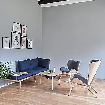 Hang Out Coffee Table / A Conversation Piece Lounge Chair / Lounge Around 3-Seat Platform Sofa and Reader Lounge Chair
