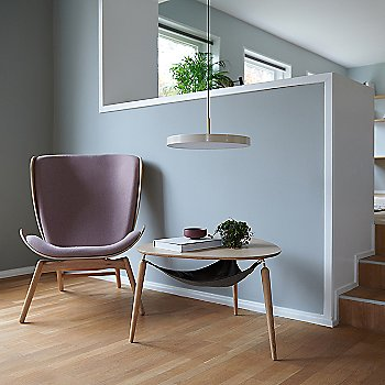 Hang Out Coffee Table / Reader Lounge Chair and Asteria LED Pendant Light