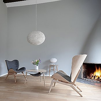 Hang Out Coffee Table / Eos X-Large Pendant Light / Eos Micro Table Lamp / Reader Lounge Chair / A Conversation Piece Lounge Chair and My Spot Side Table