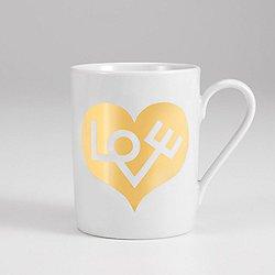 Coffee Mug, Love Heart by Vitra (Gold) - OPEN BOX RETURN