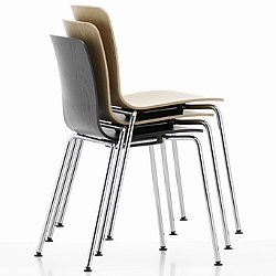 HAL Ply Chair with Tube Legs, Stackable