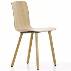 HAL Ply Chair with Wood Base