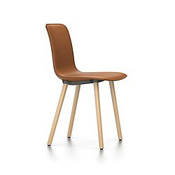 HAL Leather Chair with Wood Base