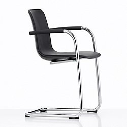 HAL Leather Cantilever Chair with Armrest