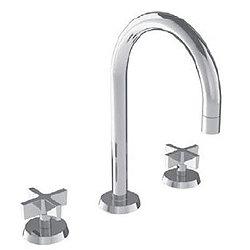 Blue 37 Widespread Round Arch Spout Faucet