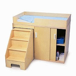 Step-Up Toddler Changing Cabinet
