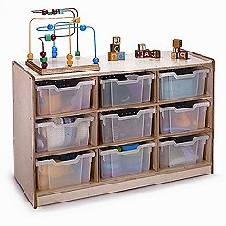 Clear Tray Storage Cabinet