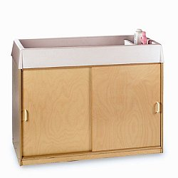 EZ Clean Birch Changing Cabinet