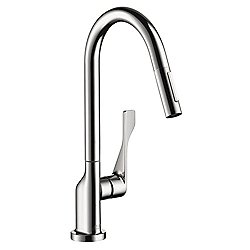 Citterio 2-Spray High Arc Kitchen Faucet Pull Down