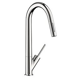 Starck 2-Spray High Arc Kitchen Faucet Pull Down