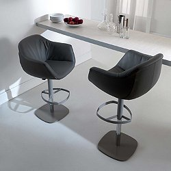 Piros Height Adjustable Swivel Bar Stool