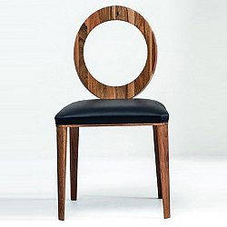 Geraldine Dining Chair (Walnut/Genuine Leather) - OPEN BOX