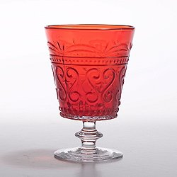 Provenzale Red Water Goblet Set of 6