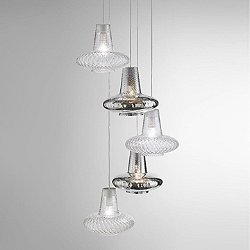 Romeo&Giulietta 5-Light Multi-Light Pendant Light - Metallic