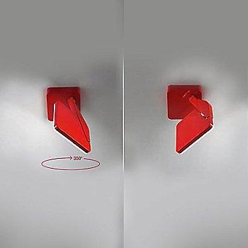 Red horizontal rotation