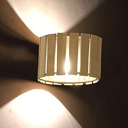 Luz Oculta Wood Wall Light