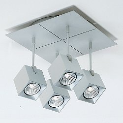 Dau Spot 4-Light Square Semi-Flush Mount Ceiling Light