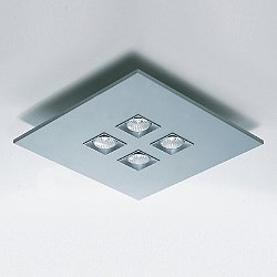 Polifemo 4-Light Square Flush Mount Ceiling Light