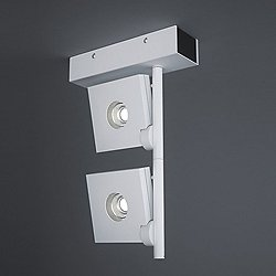 Bridge Vertical 2-Light Semi-Flush Mount Ceiling Light